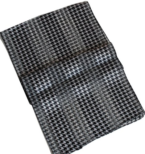 Black & White Houndstooth Check Satin Stripe Oblong Scarf акустика центрального канала heco elementa center 30 white satin