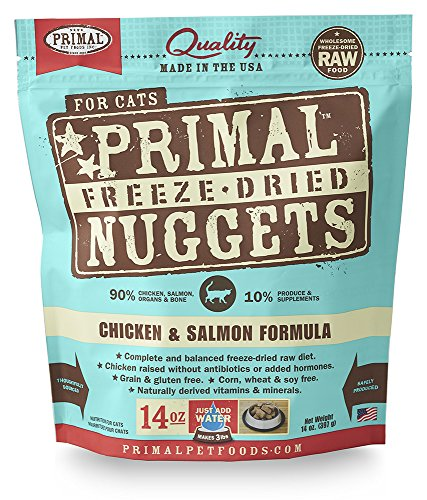 Primal Pet Foods Freeze-Dried Feline Chicken and Salmon Formula, 14oz. (Freeze Dried Pet Food compare prices)