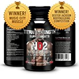 Top NO2 Nitric Oxide Booster 120 Capsules. Competition Winning. Muscle Building NO2 Supplement + L-Arginine. Gives...