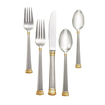 Lenox Eternal Gold Flatware 5-Piece Place Setting