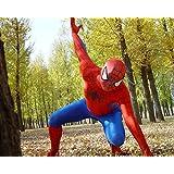 HALLE SHOP---スパイダーマン  全身タイツ ゼンタイ cosplay   弾力・伸縮性あり  コスチューム ハロウィン、クリスマス、イベント、お祭り仮装など (155-162cmサイズ)
