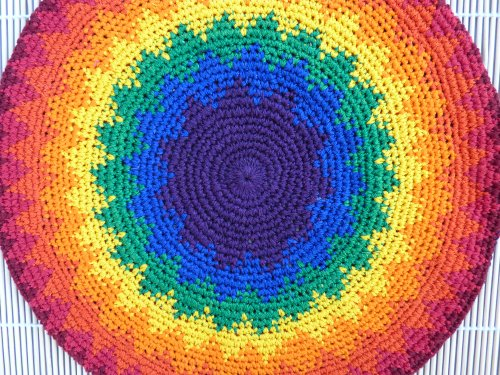Xl Tam Beret Hat Hand Crochet Knit Slouchy Dreadlock Rainbow Reggae Rasta front-362005