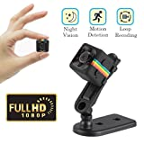 Cainda Mini Spy Camera Full HD 1080P with Night Vision and Motion Detection, Super Video Recorder Sports Camera, Small Camcorder, Mini Security Camera