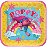 American Greetings Trolls 9 Square Plate (8 Count)