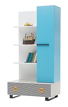 New Joy Catalania Children Book Case, 175 x 90 x 52 cm, Blue