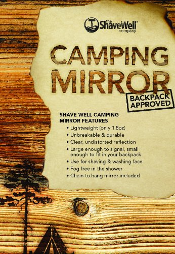 The Shave Well Company Unbreakable Camping Mirror