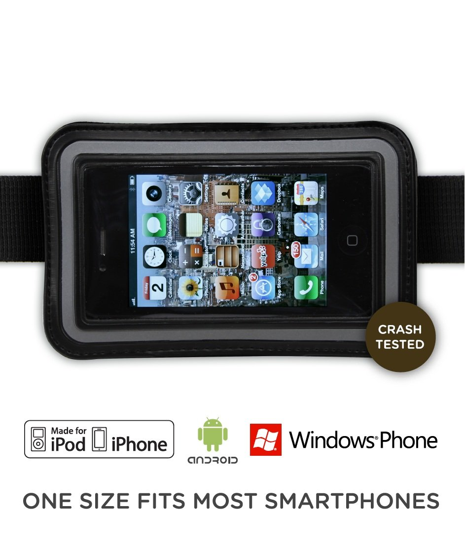 Baby Backseat Smartphone Holder with Mounting Straps (fits iPhone, iPod Touch and Android, Windows Phones with up to 4.3
