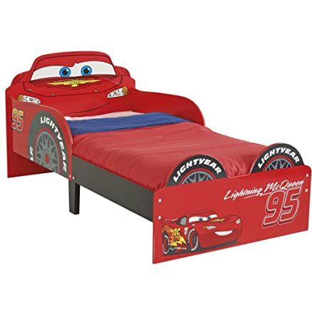 Disney Cars HelloHome Lightning McQueen SnuggleTime Toddler Bed, Red