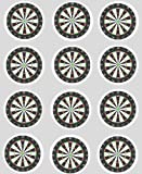 12 Darts Dartboard rice paper fairy cup cake 40mm toppers pre cut decoration