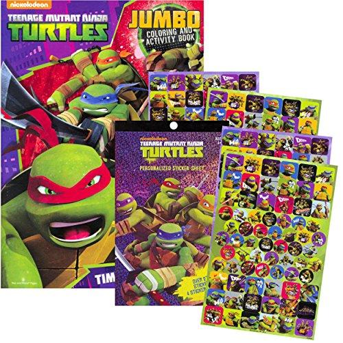 TMNT Teenage Mutant Ninja Turtles Coloring & Activity Book with Stickers ~ Over 270 Stickers! (Teenage Mutant Ninja Turtles Art compare prices)