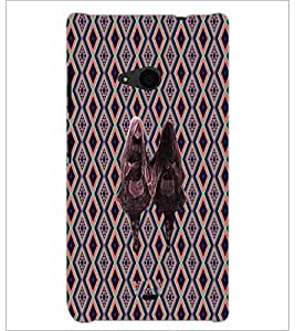 PrintDhaba Ghost Twins D-3186 Back Case Cover for MICROSOFT LUMIA 535 (Multi-Coloured)