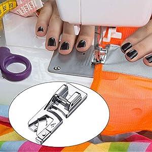 YOKOYAMA Narrow Rolled Hem Presser Foot, 3Pcs Presser Foot Set Suitable for Household Multi-Function Sewing Machines(3 mm, 4 mm, 6 mm) (Tamaño: 3PCS Set)
