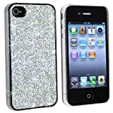 Snap-on Case Compatible With Apple iPhone 4, Silver Bling