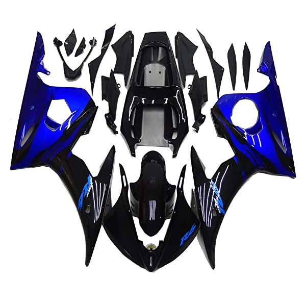 NT FAIRING Silver Black Injection Mold Fairing Fit for Yamaha YZF 2003-2005 R6 /& 2006-2009 R6S New Painted Kit ABS Plastic Motorcycle Bodywork Aftermarket