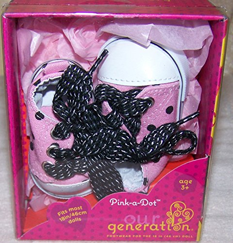 Our Generation Pink-a-Dot Sneakers - 1