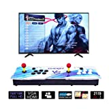 CLIENSY Arcade Video Game Console, 2119 in 1 Full HD 3D & 2D Games Pandora's Box 7 2 Players Retro Games Controls, Support HDMI/VGA/USB Output (Color: 2119 in 1 White?blue)