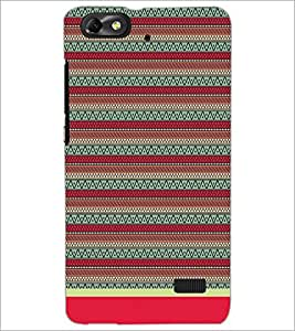 PrintDhaba Tribal Pattern D-1716 Back Case Cover for HUAWEI HONOR 4C (Multi-Coloured)