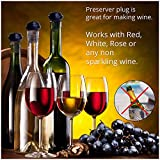 Veluxio Vacuum Pump Wine Preserver With Replacement Bottle Stoppers