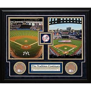 Steiner Sports MLB New York Yankees 2008 Stadium Final Game 2009 Opening Day Dirt... by Steiner Sports