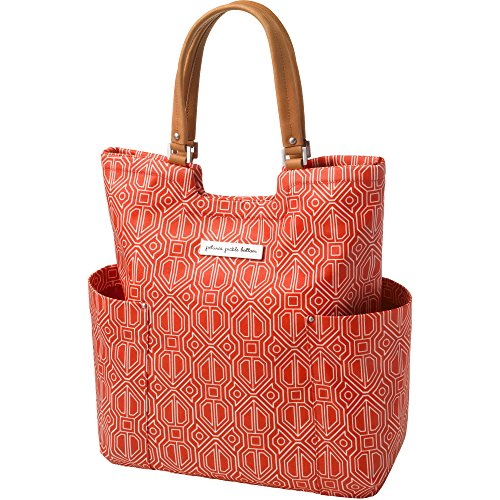 Petunia Pickle Bottom Tailored Tote in Paprika, Red