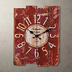 SMC H15 Country Style Vintage Wall Clock Home Decor Wood wall clock