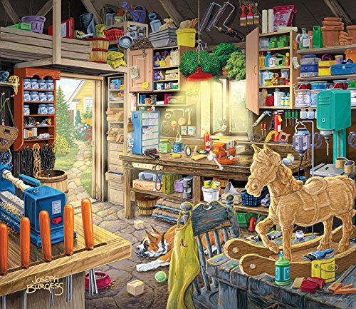 Pap Pap's Tool Shed a 550-Piece Jigsaw Puzzle by Sunsout Inc.