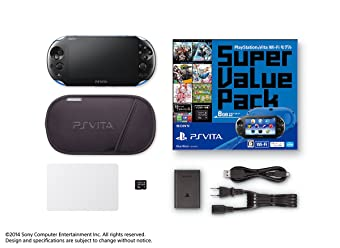 PlayStation Vita Super Value Pack Wi-Fiモデル ブルー/ブラック