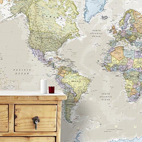 Gigante Murale della Mappa del Mondo - Classico