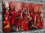 Liverpool FC Champions League Sports Canvas Art Print Roll Canvas (UNFRAMED) Size:36″ x 24″ (90 x 60 cm Approx)