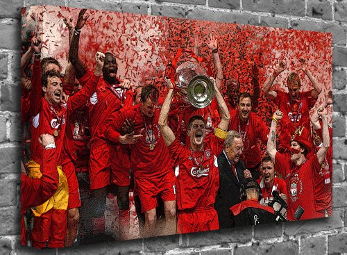 Liverpool FC Champions League Sports Canvas Art Print Roll Canvas (UNFRAMED) Size:36″ x 24″ (90 x 60 cm Approx)