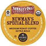 Newmans Own Organics, Special Blend Extra Bold K-Cup Portion Pack for Keurig K-Cup Brewers, 50 count