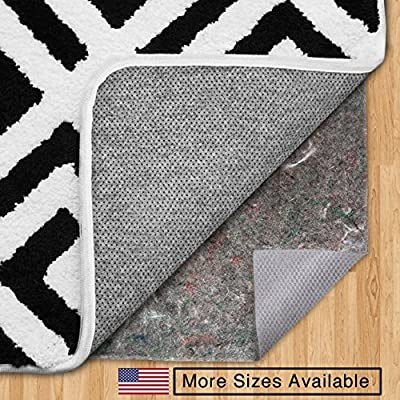 The Original Gorilla Grip (TM) FELT + RUBBER Non-Slip Area Rug Pad, Made In USA, Available in 2x4, 2x8, 3x5, 4x6, 5x7, 5x8, 6x9, 8x10, 8x11, 9x12 and 12x15, Extra Cushion, Locks Rugs In Place, Hypoallergenic, Hard Floor Protector, 20 Year Guarantee, No Ch