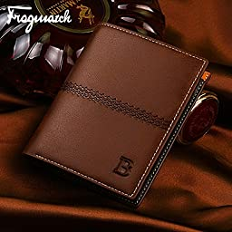 Man-purse Paragraphs Short Vertical Wallet More Screens Wallet Card Package B Words (Brown vertical section)
