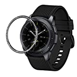 Dsytom Jewelry Bezel Ring Compatible with Galaxy Watch Bezel 42mm,Gear Sport Watch Bezel Cover Protector Adhesive Loop Anti Scratch Design for Samsung Galaxy Watch 42mm/Gear Sport(Black) (Color: Black)