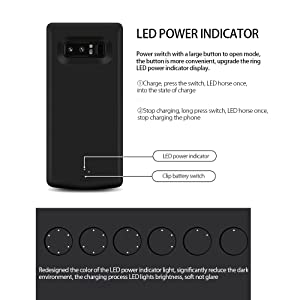 best loved 3554c 6f9e0 ZTESY Battery Case for Galaxy Note 8, 6500mAh External Battery ...
