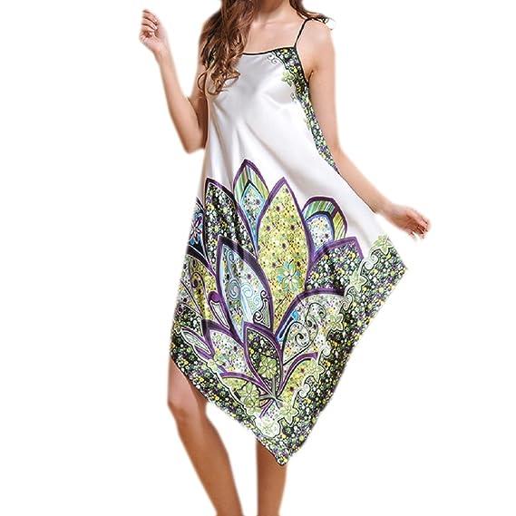 SexyTown Women's Satin Silk Long Nightgown Pajamas Adjustable Shoulder Strap