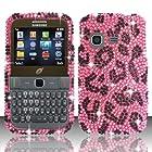 For Samsung S390g (StraightTalk/Net 10/Tracfone) Full Diamond Design Cover - Pink Leopard FPD