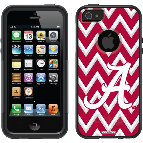 Best Price Alabama - Sketchy Chevron design on a Black OtterBox® Commuter Series® Case for iPhone 5s / 5