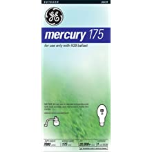 GE Lighting 26439 Mercury Hid Mogul Base DX39 Light Bulb, 175-Watt