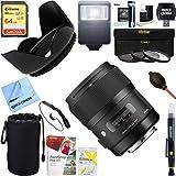 Sigma Art Wide-Angle Lens AF 35mm F1.4 DG DG HSM Lens for Nikon (340306) + 64GB Ultimate Filter & Flash Photography Bundle (Tamaño: Nikon F-Mount)