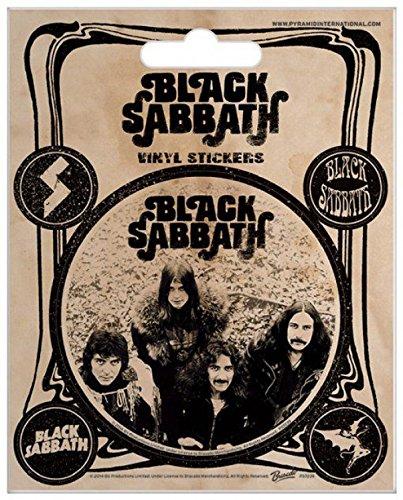Black Sabbath - Ozzy Osbourne, 5 Sticker Vinile Sticker Adesivo (12 x 10cm)
