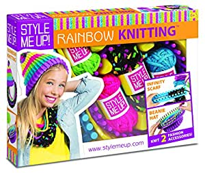 Wooky Entertainment Wooky Entertainment Style Me Up! Rainbow Knitting Kit