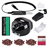 Professional 30000 RPM Electric Nail Drill Machine 110V Handpiece E File Set Powerful Manicure Grinder Filing System for Acrylic Gel Nails Polisher Kit (Color: A)