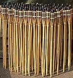 Lawn & Patio - 18 St�ck Gartenfackeln Bambus Fackel �llampen mit Sturmverschluss Dochtschutz