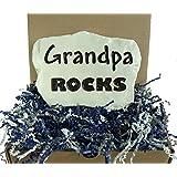 Grandpa Rocks - Engraved in a Heavy little Stone