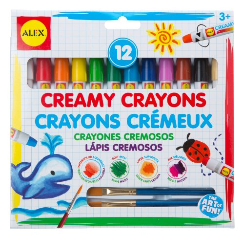 ALEX Toys Artist Studio 12 Creamy Crayons with Brushes - 1