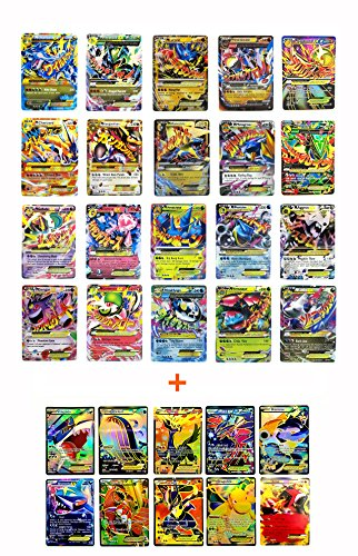 OTUS Pokemon Mega Ex Full 20 Cards Gold Series All Mega: included with Charizard Blue Dragon/ Red Dragon, Rayquaza, Gengar, Lucario all MEGA EX (Set with 10 Special Rare EX Cards)Get all as Pictures.