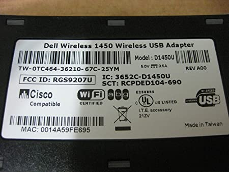 Dell Wireless 1450 Dual-Band Usb 2.0 Adapter Driver