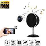 Spy Camera Bluetooth Speakers Music Player PANNOVO HD 1080P WiFi Wireless Hidden Camera Nanny Cam with Motion Detection