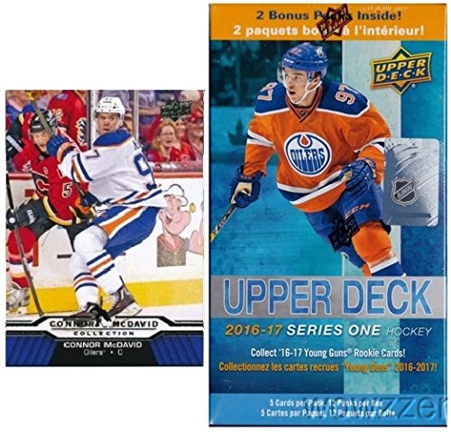 2016-17-upper-deck-series-1-nhl-hockey-exclusive-factory-sealed-blaster-box-with-12-packs-plus-bonus